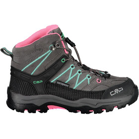 CMP Campagnolo Rigel Mid WP Trekking Shoes Kinder graffite/aqua mint